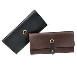 $enCountryForm.capitalKeyWord UK - factory price Vintage Leather Long Wallet Cowboy Men Pocket Card Holder Clutch Cente Bifold designer Purse For Men