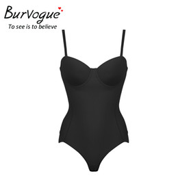 1e9a967470 Wholesale- Burvogue Hot Body Shaper Push Up Shapewear Waist Trainer  Over-bust Shaper Underwear for Women Slimming Bodysuit Seamless Shapers