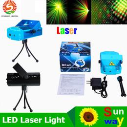 Tragbare Laser Bühnenbeleuchtung (Rot + Grün Farbe) Multi All Sky Stern-Beleuchtung Mini-DJ-Laser für das Weihnachtsfest Startseite Hochzeit Verein Projector