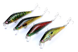 Discount painting fishing lures Colorful Painted Laser Minnow Crank bait Rattlin lure 8cm 8.2g Fly Fishing simulation Fish swimbaits hooks