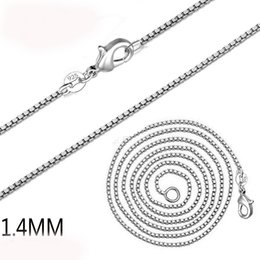 $enCountryForm.capitalKeyWord Canada - 1.4mm 925 Silver Venice Chains With 925 Tags Box Chain Link Jewelry Accessories For DIY Pendant Choker Necklace Making 16-24 Inches
