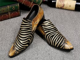 Yellow Glitter Canada - Brand Oxford Leather Men Shoes Wedding Slip On UK fashion Yellow business Dress Shoes Men Heels footwear Big Size 46