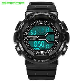 Brand Luxury Style Watch Australia - 2017 New Fashion Sanda Brand G Style Digital Sport Watch Waterproof S-Shock Military Men's Luxury Led Digital Chrono Relogio Masculino