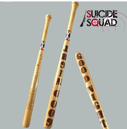 2017 halloween costumes 74cm Arkham Asylum City Suicide Squad Quinn Costume Cosplay original edition solid wood Quinn baseball bat