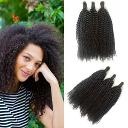 26 Inch Human Hair For Braiding NZ - 3pcs Human Hair Bulk For Braiding Malaysian Kinky Curly bulk braiding hair For Black Women G-EASY