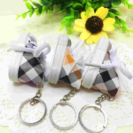 Wholesale Canvas High Shoes NZ - Creative personality gift wholesale lattice Mini shoes high small canvas shoes nursery school activities and gifts business occasions