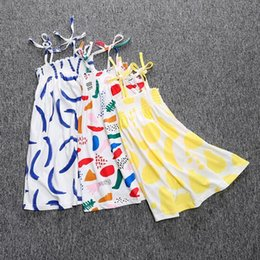 $enCountryForm.capitalKeyWord Canada - Boho Baby Girls Dress Summer Printed Girls Pattern Dress Clothing Strapless Children Toddler Outfit Girls Boutique Outfit
