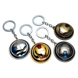 Marvel Ironman Toys Canada - New Rotation Marvel Avengers Ironman Captain America Shield Action Figure Metal Keychain Toy Pendant Chaveiro Stainless Steel Key Ring Toy