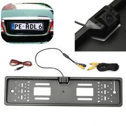 Camera Theft Canada - Car Rear View Camera Back Up Waterproof EU-License-Plate Camera