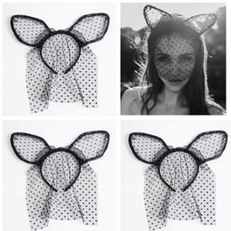 Small veilS online shopping - Lace Small Cat Ears Headband with Halloween Veil Headband