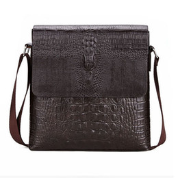 e861e9869b POLO Luxury Embossed Alligator Pattern Famous Brand Men Messenger Bags  Classic Business Mens Shoulder Bag Briefcase Bag
