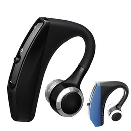 Bluetooth handsfree voice online shopping - V12 Handsfree Business Bluetooth Headset With Mic Voice Control Wireless Bluetooth Earphone Headphone Sports Music Earbud