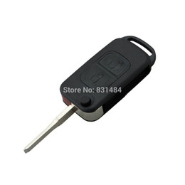 Keys Chip Shell Australia - Flip Folding car Shell Remote Key Fob Case 2 Button For Mercedes Benz No Chip