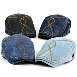 82a9b5f5ea238 Denim Beret Hat Canada - Wholesale-Fashion Spring Summer Jeans Hats for Men  Women High