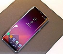 Großhandel 5,8 Zoll Goophone S8 + S8 Plus Smartphone MTK6580 Quad Core 1 GBRAM 16 GBROM Kurve Bildschirm Gute Qualität 8MP Zurück Kamera 4G / 128G anzeigen preiswertes Telefon