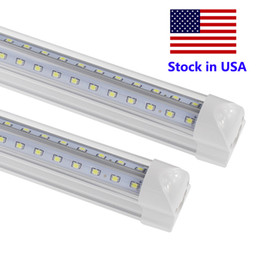 tube lights wholesale NZ - T8 8ft LED Tube V Shape Integrated 8 foot led bulbs LED 4ft 5ft 6ft 8 feet Work Light 72W Fluorescent Tube Lamp