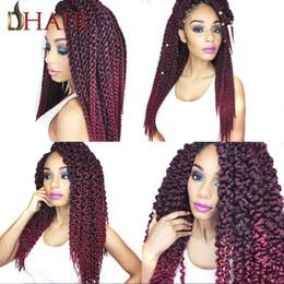 3d Hair Canada - 3D Cubic African Hair Extensions Silver Black Premium Now Hair Afro Twist Braid Heat Resistant Kanekalon Dreadlocks Weave