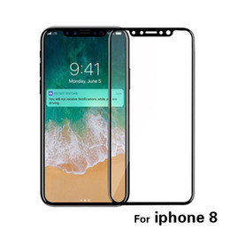mirror glass iphone case NZ - 9H tempered glass, For iphone X 8 8 plus, screen protector protective guard film front case cover +clean kits,With Retail Box, Free DHL