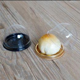mini cupcake favors 2019 - 100pcs=50sets Mini Size Plastic Cupcake Cake Dome Favor Boxes Container Cake Box Wedding Favors Boxes Supplies cheap min