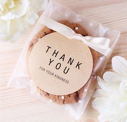 $enCountryForm.capitalKeyWord Canada - 300pcs lot 4 Size Self Adhesive THANK YOU style Christmas Wedding Gift Soap Packaging Bags Candy and Cookie Baking Package Bag
