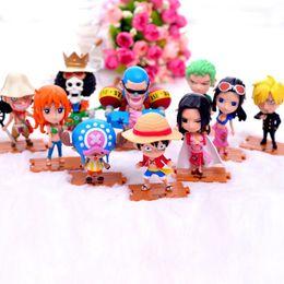 $enCountryForm.capitalKeyWord NZ - Toys 10pcs set Anime One Piece Action Figures Cute Mini Figure Toys model Collection Car Decoration Brinquedos