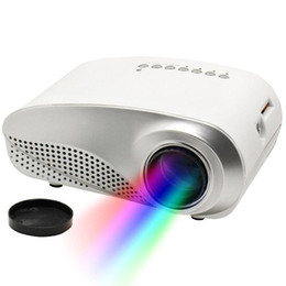 Chinese  Cheap Mini Home Projector 1080P HD LCD Portable Projectors RD802 Multi-Media Player HDMI VGA USB SD AV Home Theater Cinema for iPad Laptop manufacturers