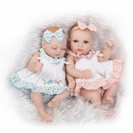 mini full silicone baby doll 2019 - 11 inch 28cm Bebe Reborn Silicone Reborn Baby Doll Sweet Girl Dolls Full Body Vinyl Soft Toys For Kids Mini Toys for Chi