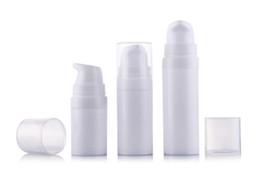 Mini Plastic Cosmetic Bottles UK - 5ml 10ml 15ml White mini Airless Pump Lotion Bottle,sample and test bottle ,Airless Container,Cosmetic Packaging F2017493