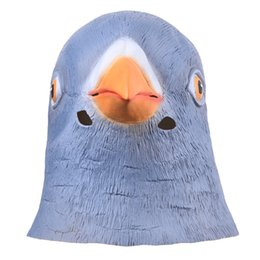 Chinese  2017new Lifelike Pigeon Head Full Face Mask Halloween Gifts Eco -Friendly Nature Latex Funny Mask For Cosplay Party Dress Up manufacturers