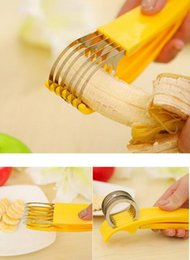 Discount new cooking gadgets - New Stainless Steel banana cutter fruit Vegetable cSalad Sundaes tools cooking tools Kitchen Accessories gadgets