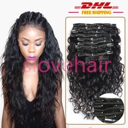 Discount wavy hair weave styles 2017 brazilian wavy hair weave clip in hair extensions curly wavy full head hair 120g water wave hair weave style real good quality wavy hair weave styles for sale pmusecretfo Choice Image