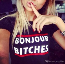 Girls White Tee Black Sleeves Canada - Women Summer Short Sleeve T Shirt Big Girl Letters Printing Shirt Tops Lady Pullover Cotton Tops Women Clothing Tees Black   White