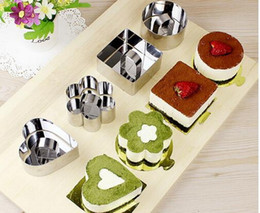 $enCountryForm.capitalKeyWord NZ - 10pcs lot, Round, Square, Flower shaped, Heart shaped Stainless Steel mousse ring cake cookie cutter mould baking tool.