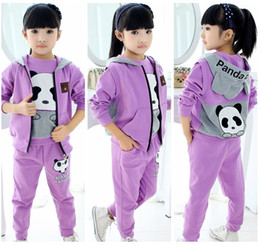 $enCountryForm.capitalKeyWord NZ - Hot style Children clothing autumn and winter girl sports leisure suit three piece of Hoodie vest sweater and trousers W17JS202