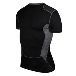 Wholesale Hot Sale Men Compression Base Layer Short Sleeve Under Shirt Skin Tight Tops Body