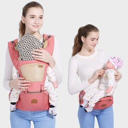 Toddler Carry NZ - New ergonomic backpack baby carrier multi-function breathable Infant carrier backpacks carriage toddler sling wrap suspenders+seat K477