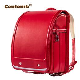 edb05c8249 Coulomb Kid Orthopedic School Bag Children Backpack For Girl And Boys  Students Bookbags Japan Pu Japanese Randoseru Backpack Hot