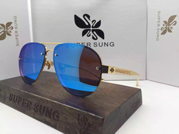 Sing pink online shopping - Luxury Sunglasses Italy SUPER SUNG Top Quality Alloy Sunglasses Oval Frameless Men Women Brand Designer UV400 Protection Come With Package