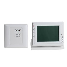China Freeshipping Wireless Thermoregulator Green LCD Screen Display Programmable for Gas or Oil Heating Thermostat with Controller Receiver suppliers