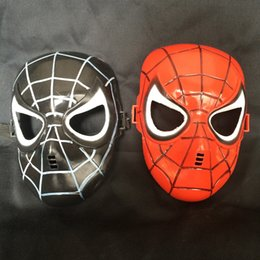 Costume De Super-héros Pvc Pas Cher-Marvel Superhero The Avengers Costume Spiderman Mask For Party Mardi Gras Costume Prop Christmas Holloween Ball Taille unique pour la plupart