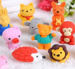 kids rubbers stationery Australia - Correction Erasers 30 Style Mix Lovely Cartoon Eraser Cute Rubber Student Stationery Supplies Kids Gift Promotion