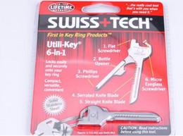 $enCountryForm.capitalKeyWord Australia - New 6 In 1 Utili-Key Mini Multitool Keyring key chain knife camping survival rescue pocket tools