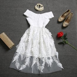 Fairy Style Dresses Canada - Ladies temperament summer 2017 new women's a thin white gauze dress shoulder in the long section of the fairy skirt