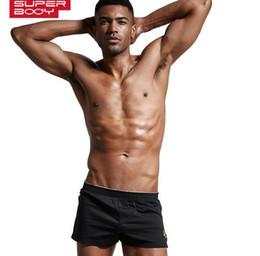 Wholesale man sleep underwear for sale - Group buy Superbody Mens Underwear Boxer Shorts Trunks Cotton High Quality Underwear Men Brand Clothing Shorts Men Boxers Home Sleep Wear LG
