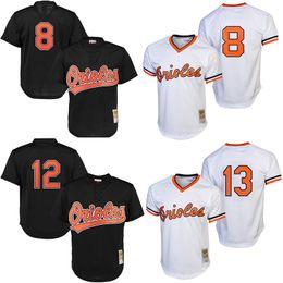 7bc43b8d3 ... baltimore orioles throwback baseball jerseys 8 cal ripken jr. 12  roberto alomar Mens ...