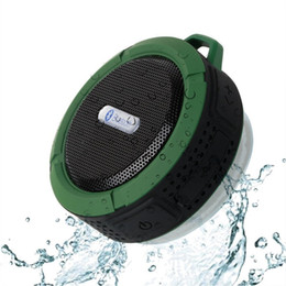 iphone stereo player NZ - New Mini C6 Portable Wireless Bluetooth Speaker With Calls Handsfree Suction Cup Waterproof Bluetooth High Stereo Shower Speaker For iphone