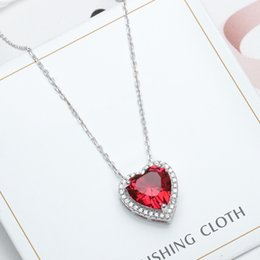 $enCountryForm.capitalKeyWord NZ - Agood pure silver pendant necklace for women 925 sterling silver jewelry accessories for bridal wedding party lover gift red heart shape