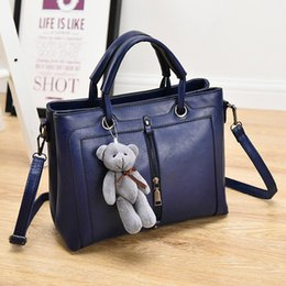 $enCountryForm.capitalKeyWord Canada - Wholesale- New Women Handbags Casual Tote Women Bags Ladies PU Leather Handbags Fashion Women Shoulder Bags Blue