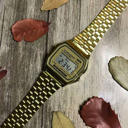 Mens digital bracelet watches online shopping - 2019 New Gold Silver Top Brand Mens Watches Quartz Digital Display Bracelet Watches Clock For Man Woman Stainless Steel Strap reloj mujer