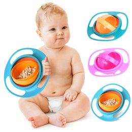 spill proof bowl dishes NZ - New Arrival Baby Uniaversal Gyro Bowl 360 Dishes Non Spill 360 Rotate Funny Gif Spill-Proof Gyro Feeding Bowl Free Shipping (7)
